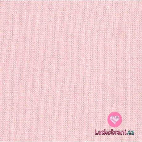 Náplet hladký perlově růžový 160 cm