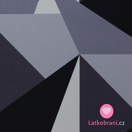 Softshell potisk velké trojúhelníky šedé