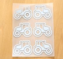 Reflexní nažehlovačka traktor (6ks)