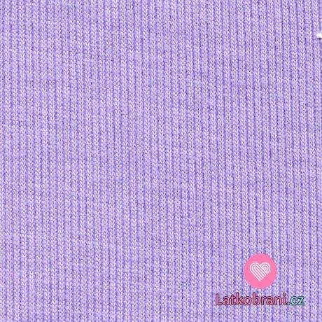 Náplet žebro fialový lila
