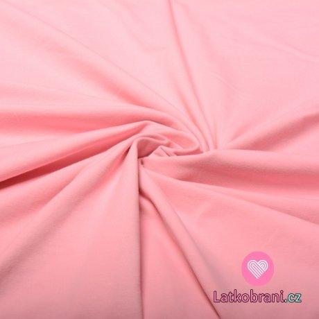 Jednobarevný úplet růžový 240 g