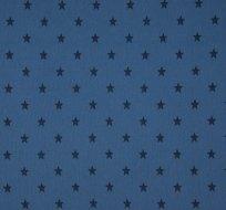RIB / náplet s hvězdičkami modro-jeansová