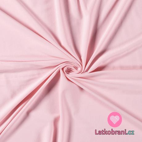 Jednobarevný úplet růžový 200 g