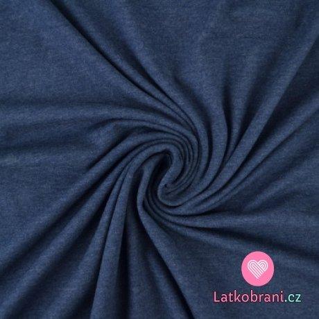 Jednobarevný úplet tmavě jeansové melé