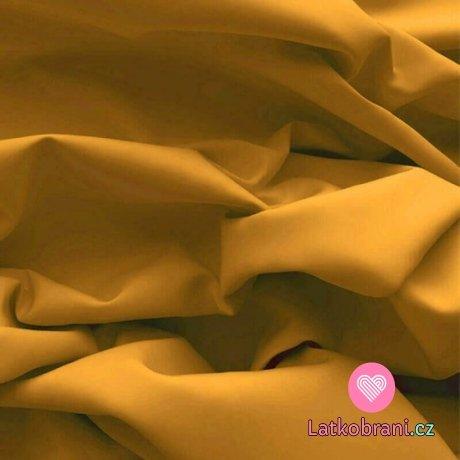 Bavlněný popelín jednobarevný okrový