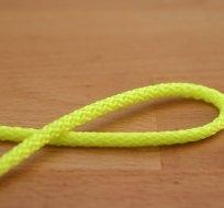 Šňůra kulatá oděvní PES 4 mm neon žlutá