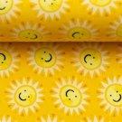 Úplet potisk veselá sluníčka na žluté
