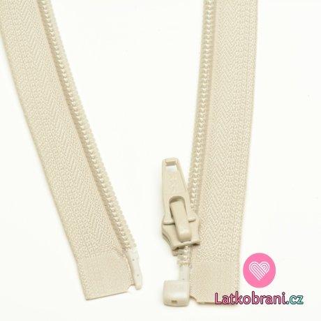 Zip spirálový dělitelný krémový 60cm