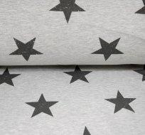 Teplákovina hvězdy na šedé melé