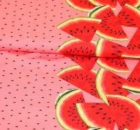 Úplet bordura melouny na růžové
