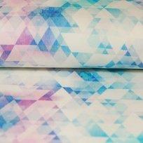Úplet barevné modré trojúhelničky na smetanové