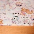 Teplákovina zimní zvířátka, myška na fialkové