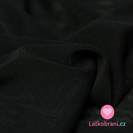 Síťovina strečová černá