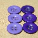 Knoflík hladký lesklý fialový tmavější 24mm