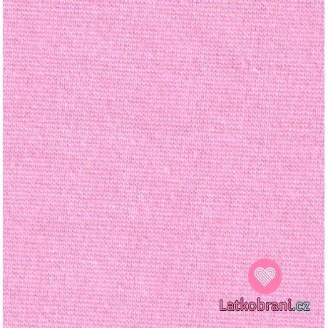 Náplet hladký sladce růžový 160cm