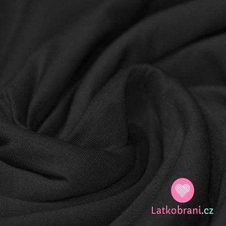 Jednobarevný úplet černý 250 g