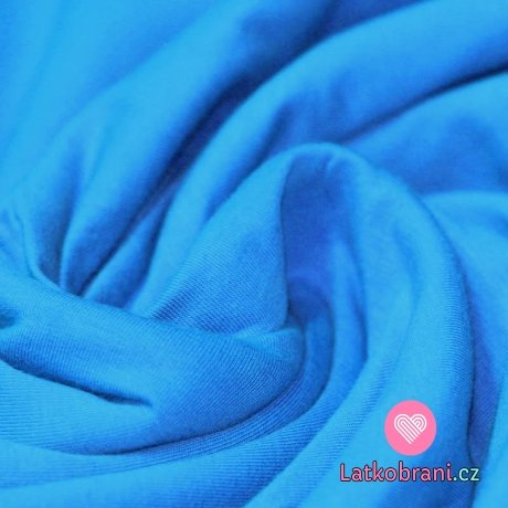 Jednobarevný úplet modrá aqua 240 g