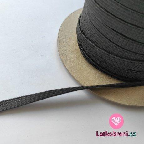 Pruženka plochá černá 7 mm