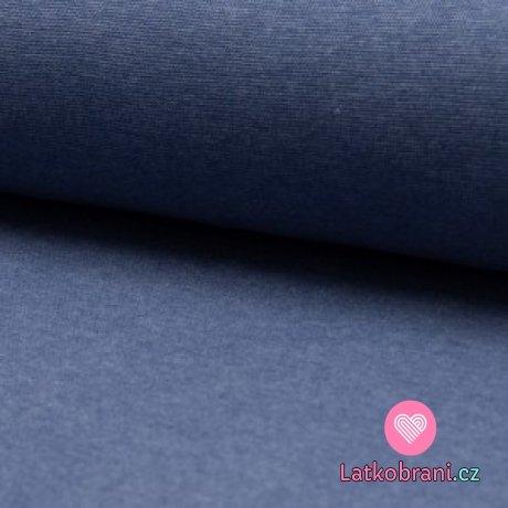 Náplet melanž světle jeansově modrý