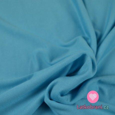 Viskózový jednobarevný úplet modrý