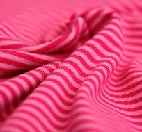 Úplet proužky růžové s pink růžovou (malé)