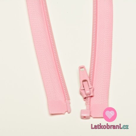 Zip spirálový dělitelný baby růžový 65cm