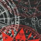 Teplákovina potisk kompas na antracitové