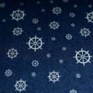 Jeans/Denim námořnický styl kormidlo na modré - ZBYTEK