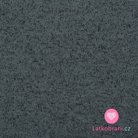 """Softshell modrý melír, """"pletená"""" svrchní vrstva"""