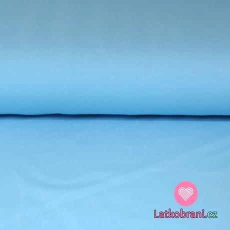 Jednobarevný úplet ledově modrá 215g