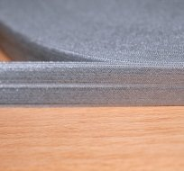 Šikmý proužek / lemovací pruženka šedá stříbřitá 19mm