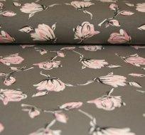 Úplet magnolie růžové třpytky na šedé tmavé - ZBYTEK