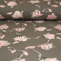 Úplet magnolie růžové třpytky na šedé tmavé