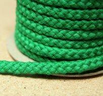 Šňůra kulatá oděvní BAVLNA 9 mm zelená tmavá