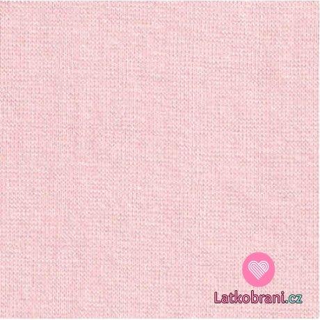 Jednobarevný oboulícní úplet perlově růžový