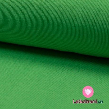 Náplet žebro neon zelený