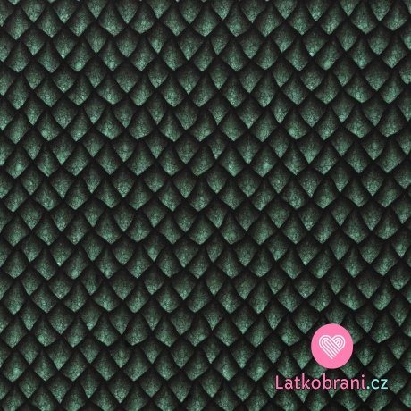 Úplet potisk dračí šupiny smaragdově zelené