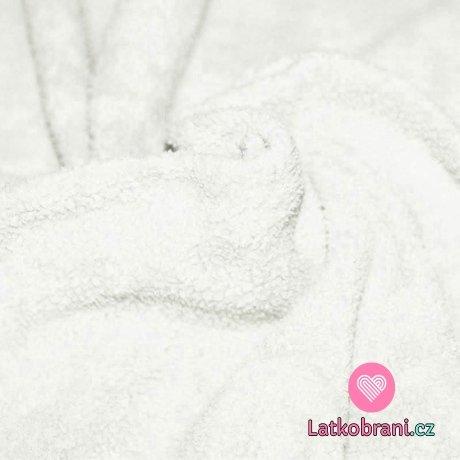 Bavlněný fleece ecru