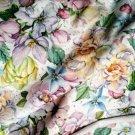 Teplákovina potisk květy jemných tlumených barvách