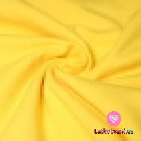 Jednobarevná teplákovina žlutá 240 g