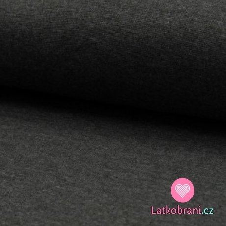 Náplet melanž tmavě šedý
