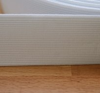 Pruženka plochá bílá 40 mm