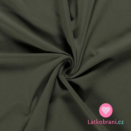 Úplet jednobarevný khaki zelený
