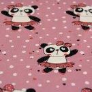 Úplet panda v sukýnce na růžové s puntíky