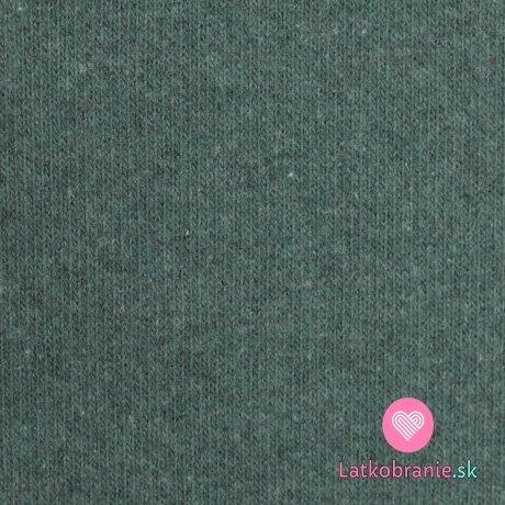 Italská pletenina, počesaná smaragdová