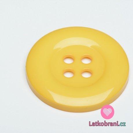 Knoflík mega velký žlutý světlejší