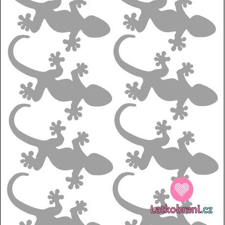 Reflexní nažehlovačka ještěrky (8ks)