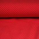 Úplet puntíky bílé drobné na červeném podkladu