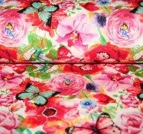 Teplákovina motýli, kolibříci na růžích