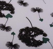 Softshell zimní černé pampelišky na bílé